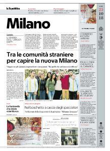 la Repubblica Milano - 25 Ottobre 2018