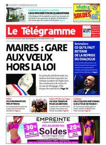 Le Télégramme Ouest Cornouaille – 08 janvier 2020