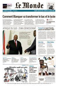 Le Monde du Vendredi 16 Février 2018