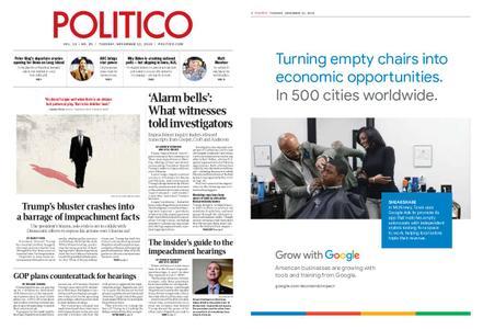 Politico – November 12, 2019