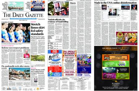 The Daily Gazette – October 12, 2018