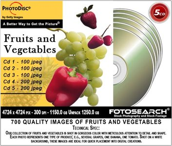 PhotoDisc Object Series 5 CD-Fruits & Vegetables