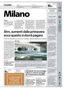 la Repubblica Milano - 22 Settembre 2018
