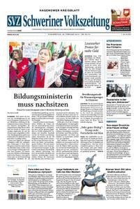 Schweriner Volkszeitung Hagenower Kreisblatt - 28. Februar 2019