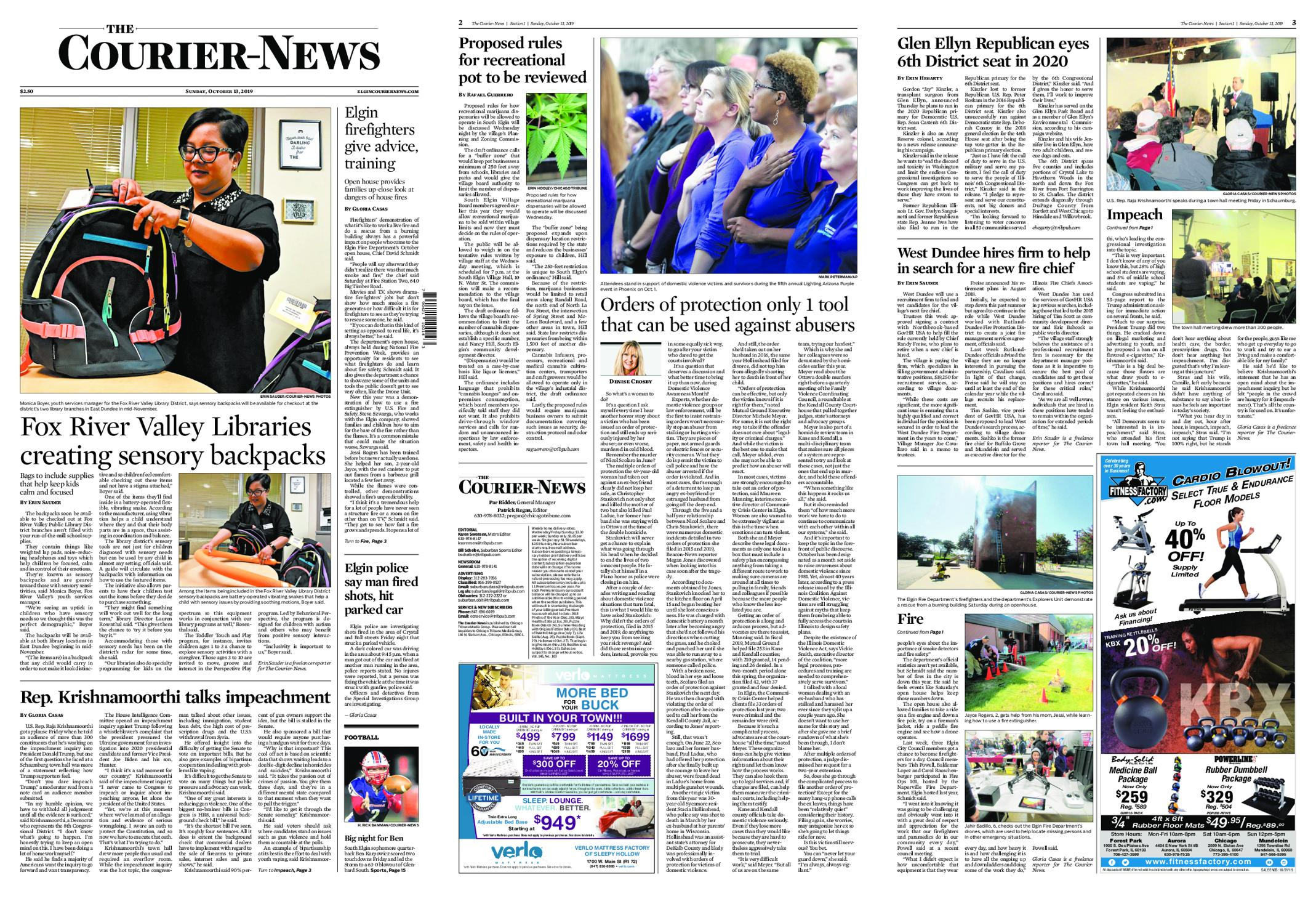 The Courier-News – October 13, 2019