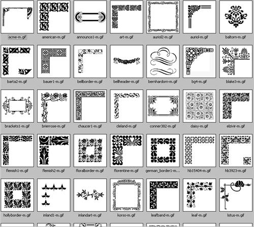 Decoratives borders & frames - EPS