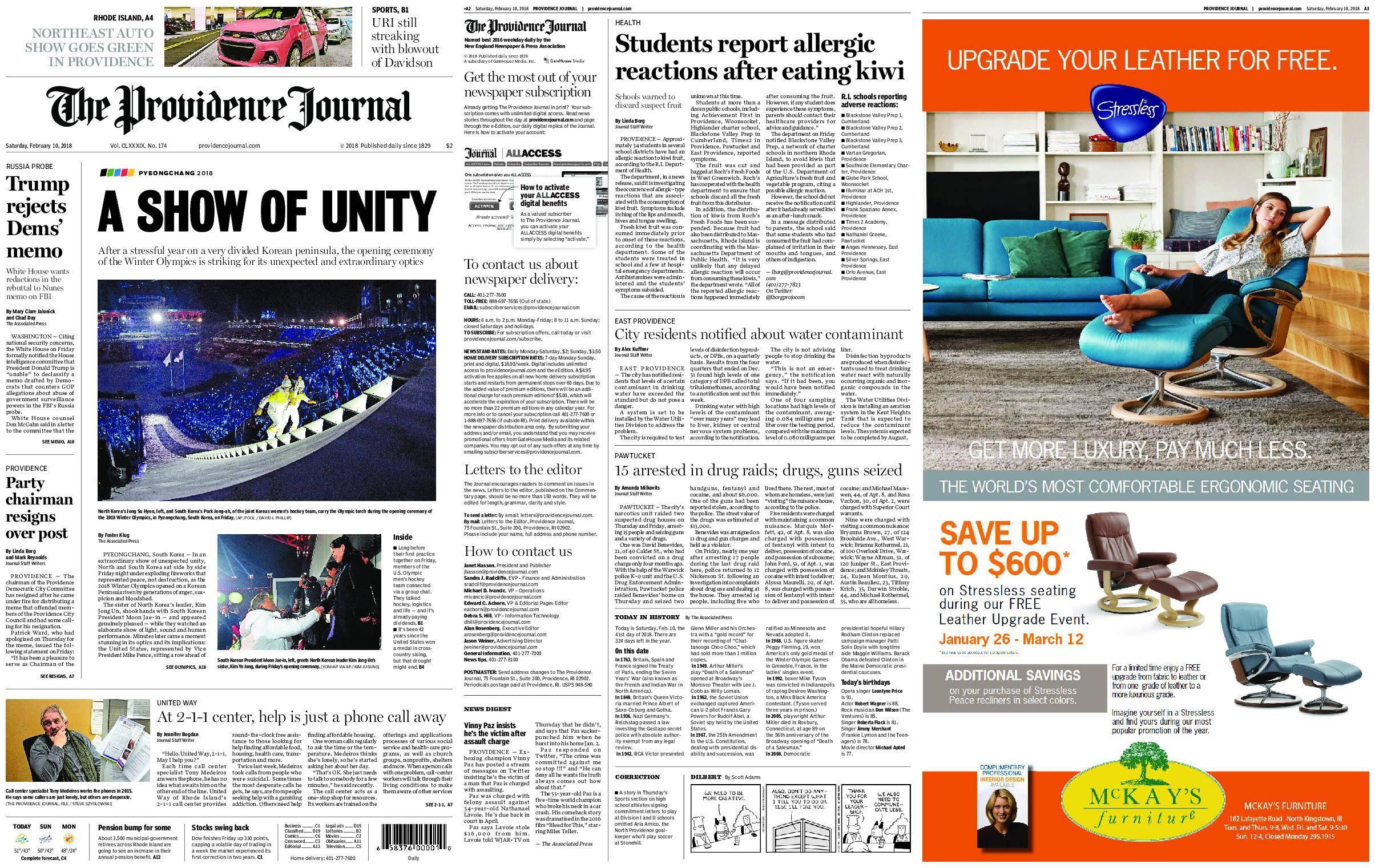 The Providence Journal – February 10, 2018 / AvaxHome
