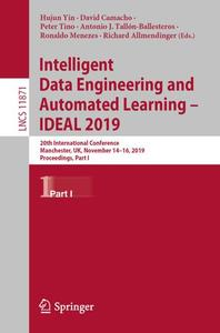 Intelligent Data Engineering and Automated Learning - IDEAL 2019 Part I