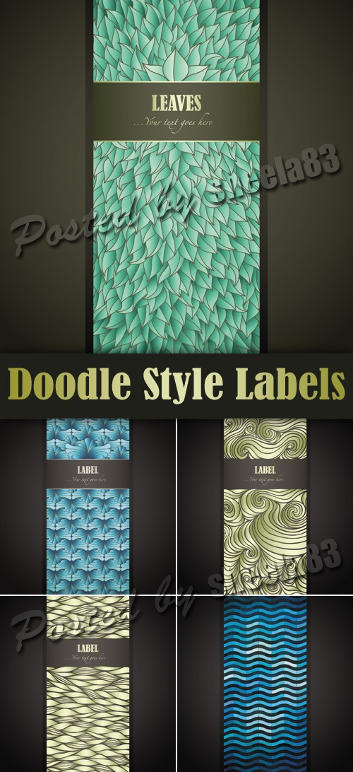 Doodle Style Labels Vector