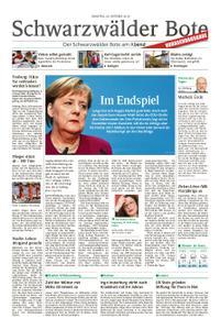Schwarzwälder Bote Hechingen - 30. Oktober 2018