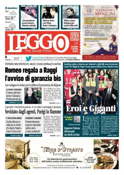 Leggo Milano - 8 Febbraio 2017