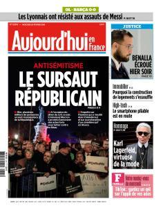 Aujourd'hui en France du Mercredi 20 Février 2019