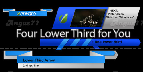 After Effects Project - The Ribbons Lower Third