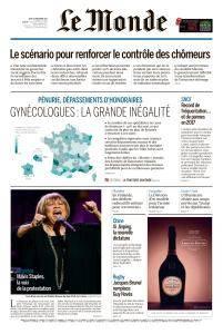 Le Monde du Jeudi 28 Décembre 2017