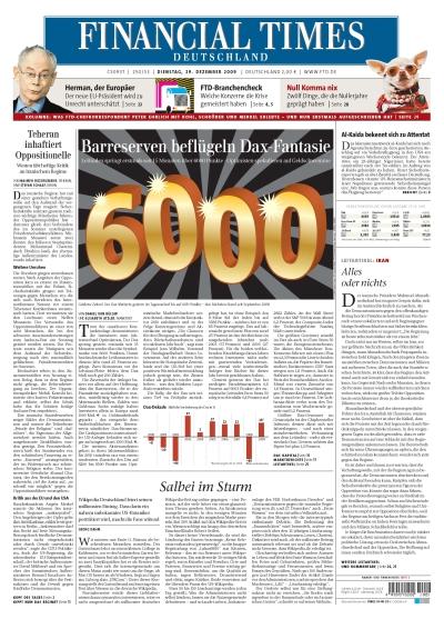FinancialTimesDeutschland vom 29.12.2009