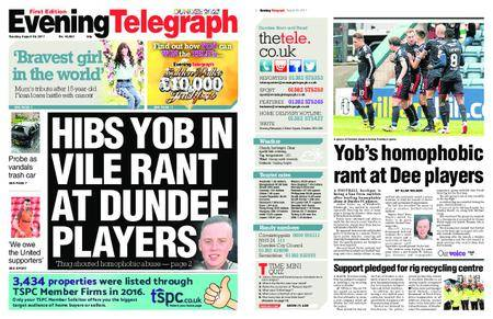Evening Telegraph First Edition – August 29, 2017