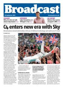 Broadcast Magazine – 20 September 2019