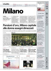 la Repubblica Milano - 14 Aprile 2018