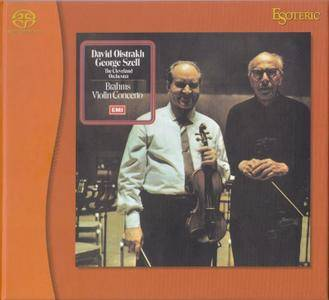 David Oistrakh, The Cleveland Orchestra, George Szell - Brahms: Violin Concerto in D, Op.77 (1970) [Japan 2010] SACD + FLAC