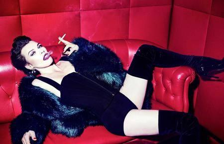 Milla Jovovich by Ellen von Unwerth for Vanity Fair Italia December 21, 2016
