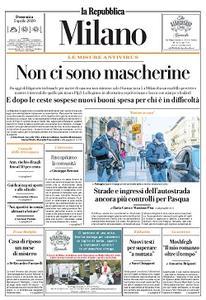 la Repubblica Milano - 5 Aprile 2020