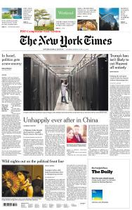 International New York Times - 1-2 June 2019