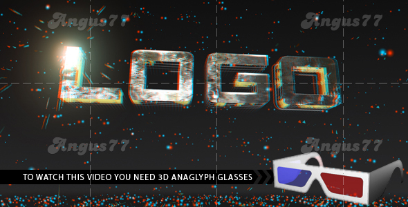 After Effects Project - Anaglyph Titles