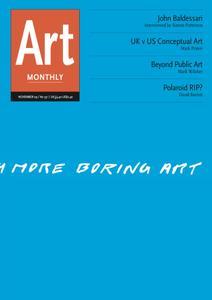Art Monthly - November 2009   No 331