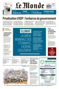 Le Monde du Vendredi 15 Mars 2019
