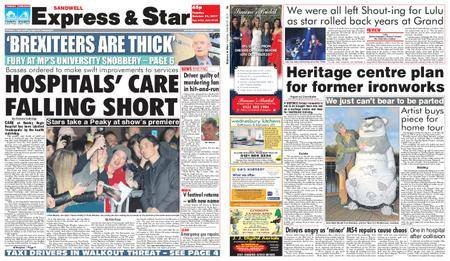 Express and Star Sandwell Edition – October 31, 2017