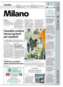 la Repubblica Milano - 19 Agosto 2018