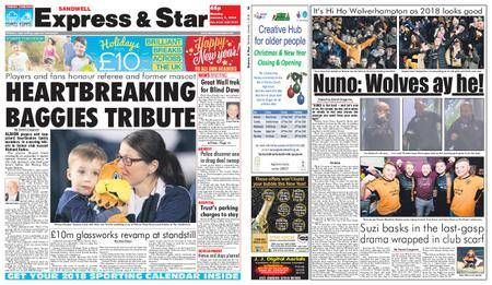 Express and Star Sandwell Edition – January 01, 2018