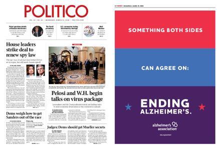 Politico – March 11, 2020