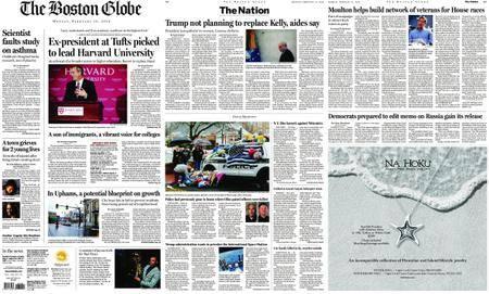 The Boston Globe – February 12, 2018