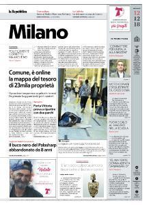 la Repubblica Milano - 12 Dicembre 2018