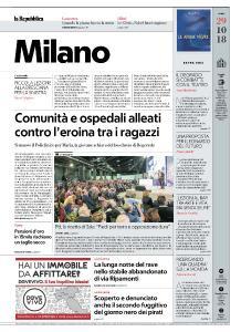la Repubblica Milano - 29 Ottobre 2018