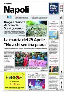 la Repubblica Napoli – 23 aprile 2019
