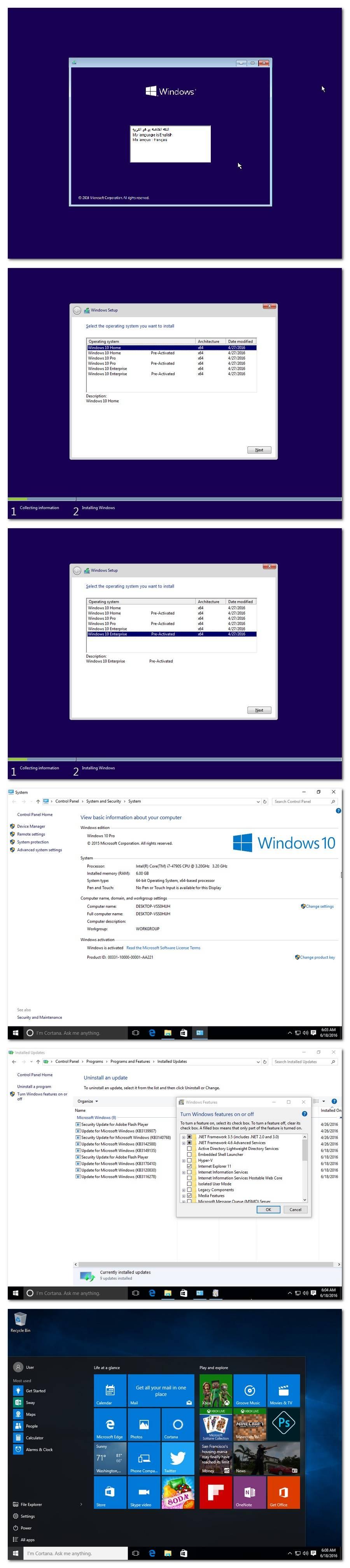 Microsoft Windows 10 Aio 1511 2 June 2016 Multilingual Full