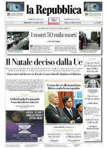 la Repubblica - 24 Novembre 2020