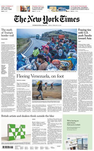 International New York Times - 22 February 2019