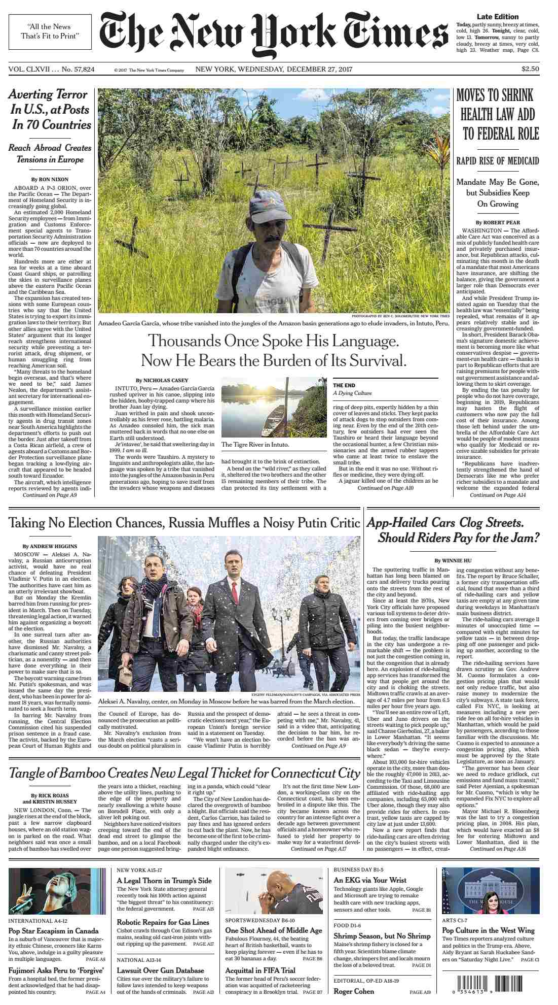 The New York Times  December 27 2017