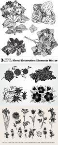 Vectors - Floral Decoration Elements Mix 20