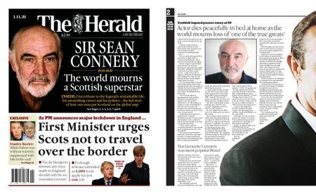 Sunday Herald – November 01, 2020