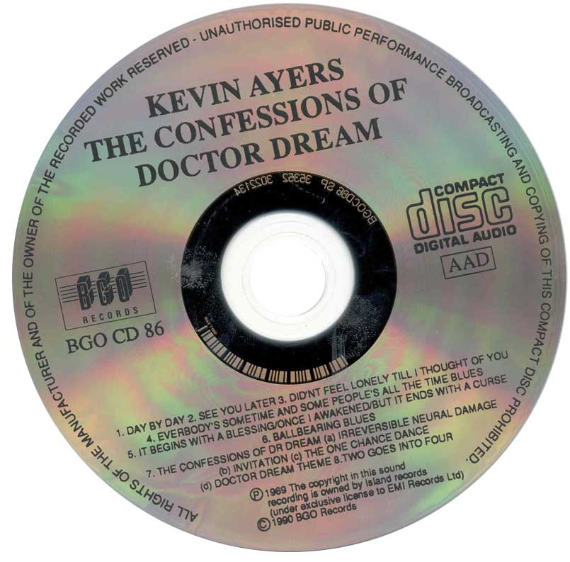 Kevin Ayers - The Confessions Of Dr. Dream And Other Stories (1974)