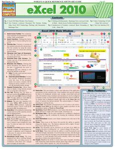 Excel 2010 (Quick Study Computer) - 1423214269 .PDF