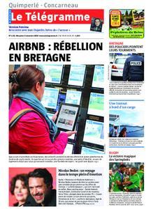 Le Télégramme Concarneau – 03 novembre 2019