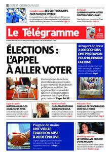 Le Télégramme Ouest Cornouaille – 11 mars 2020