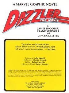 Marvel Graphic Novel 12 - Dazzler - The Movie 1984