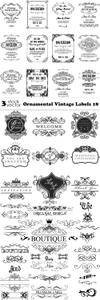 Vectors - Ornamental Vintage Labels 18