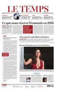 Le Temps - 03 janvier 2018